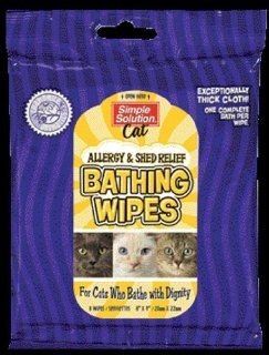 Simple Solution Cat Bathing Wipes   Allergy & Shed Relief : Pet Antishedding Wipes : Pet Supplies