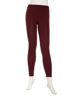 Knit Formfitting Leggings, Wine