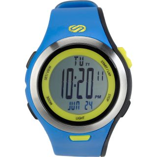 SOLEUS Mens Ultra Sole Running Watch   Size L, Blue/lime