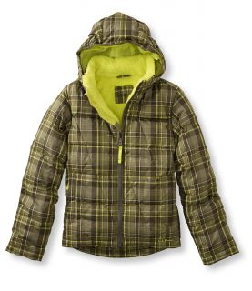 Boys  Fleece Lined Down Jacket, Plaid