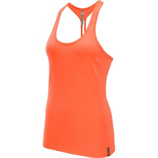 UNDER ARMOUR Womens Fly By Stretch Mesh Tank Top   Size: Medium, Citrus/silver