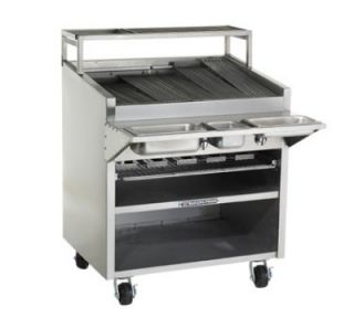 Bakers Pride 48 in Charbroiler, 165,000 BTU, Floor Model, SS Radiant, NG