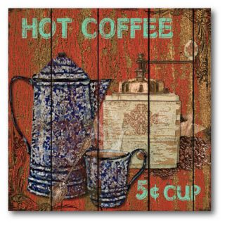 Courtside Market Farmhouse Canvas Hot Coffee Gallery Wrapped Canvas