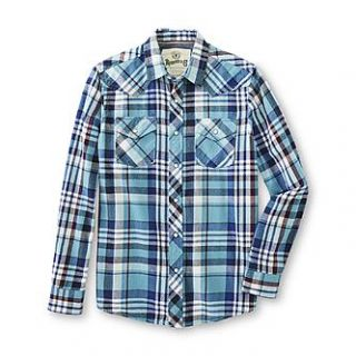 Roebuck & Co. Young Mens Flannel Western Shirt   Plaid   Clothing
