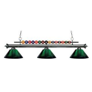 Filament Design Kerstin 3 Light Gun Metal Billiard Light CLI JB048759