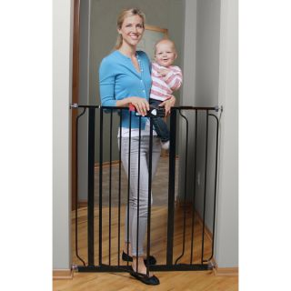 Regalo Deluxe Easy Step Extra Tall Black Gate   16649415