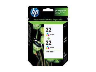 HP 22 Tri color Ink Cartridge Twin Pack (CC580FN#140)