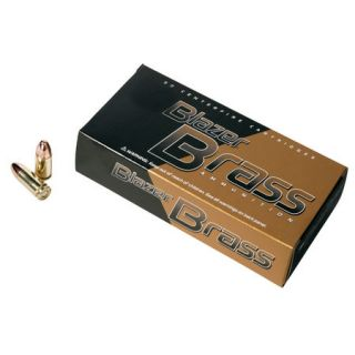 Blazer Brass Ammunition 50 Rounds 9MM Luger 115 gr. FMJ 412739