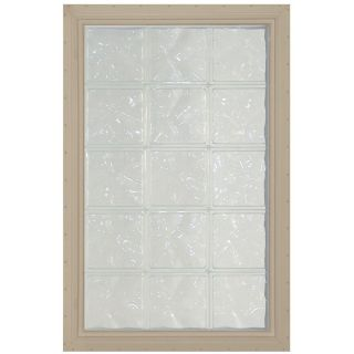 Pittsburgh Corning LightWise Decora Sand Vinyl New Construction Glass Block Window (Rough Opening: 17.625 in x 72.125 in; Actual: 16.375 in x 71.125 in)