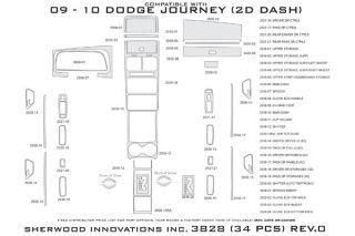 2010 Dodge Journey Wood Dash Kits   Sherwood Innovations 3828 R   Sherwood Innovations Dash Kits