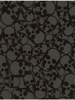 Graham & Brown Black skull midnight wallpaper