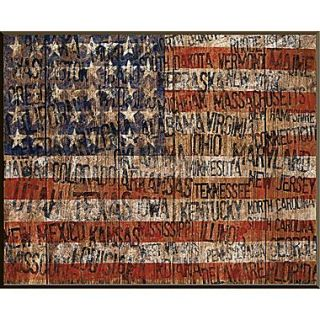 PTM Images Old Glory Gicl e Framed Wall Art; 40H x 30W x 1.5D