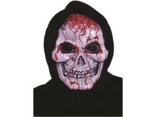 Gross Scary Bleeding Skull Grim Reaper Costume Accessory