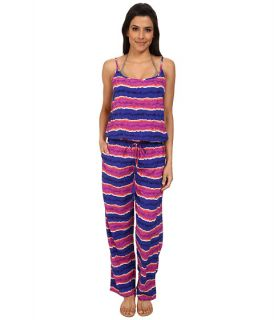 Tommy Bahama Paint Stripe Long Romper Cover Up