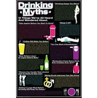 Drinking   Myths Poster Print (24 x 36)