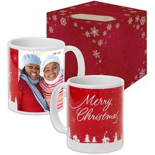 Hallmark Winter Scene Photo Mug Bundle, Personalized Photo Mug, Ceramic Photo Mug