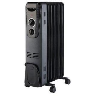 1500 Watt Electric Oil Filled Radiant Portable Heater   Black CYAA45 7B