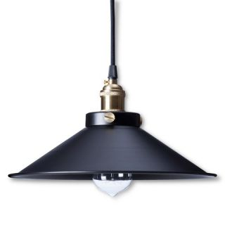 Kim Pendant Light Black (Includes Edison Bulb)