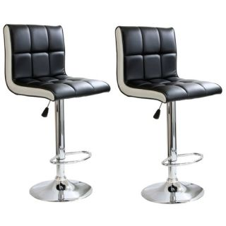 Ameri Home Adjustable Height Swivel Bar Stool with Cushion by Buffalo