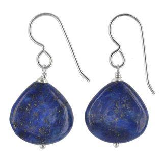 Ashanti Sterling Silver Lapis Lazuli Gemstone Handmade Earrings (Sri