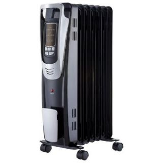 Pelonis 1500 Watt Digital Oil Filled Radiant Portable Heater with Remote Control NY1507 14A