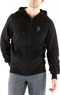 Black Diamond Full Zip Logo Hoodie   Mens