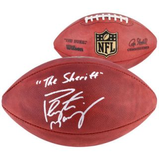 Peyton Manning Denver Broncos  Authentic Autographed Duke Football with The Sheriff Inscription