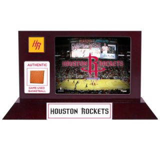 Houston Rockets  Authentic Team Logo Desktop Display with Team Used Basketball