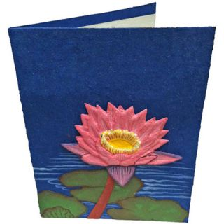 Mr. Ellie Pooh Handmade Dark Blue Flower Poo Paper Card (Sri Lanka