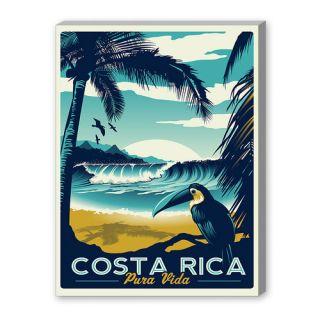 Americanflat Costa Rica Vintage Advertisement Graphic Art