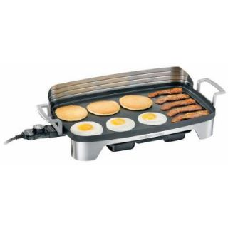 Hamilton Beach Premiere Cookware Electric Griddle with Backsplash and Warming Tray DISCONTINUED 38541