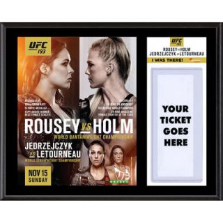 Authentic UFC 193 Ronda Rousey vs. Holly Holm Dueling I Was There 12 x 15 Sublimated Plaque