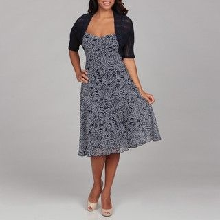 Connected Apparel Womens Floral Dress with Sweater