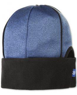 Isotoner Signature Heathered Softshell Slouchy Hat with Ponytail