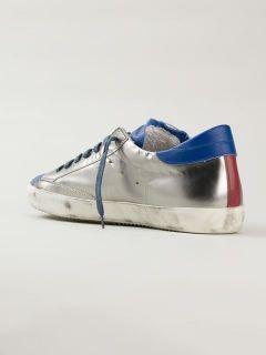 Philippe Model Appliqué Detail Metallic Sneakers