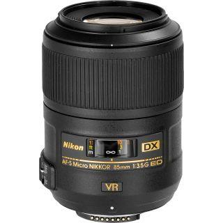Nikon Refurbished 85mm f/3.5 G VR AF S DX ED Micro Nikkor Lens