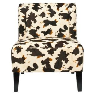 Safavieh Ashby Slipper Chair   White/Black