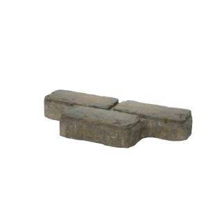 Tan/Charcoal Cobble Concrete Paver (Common: 8 in x 16 in; Actual: 8 in x 16 in)