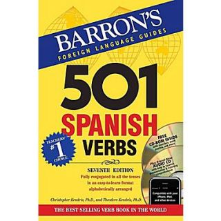 501 Spanish Verbs with CD ROM and Audio CD Christopher Kendris, Theodore Kendris Paperback
