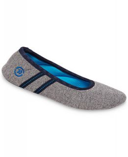Isotoner Signature Active Heathered Knit Ballerina Slippers with