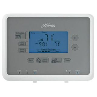 Hunter 7 Day Programmable Thermostat Universal 44377