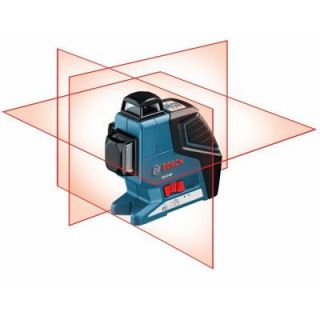 Bosch 265 ft. 360 Degree 3 Plane Leveling and Alignment Line Laser Level GLL 3 80