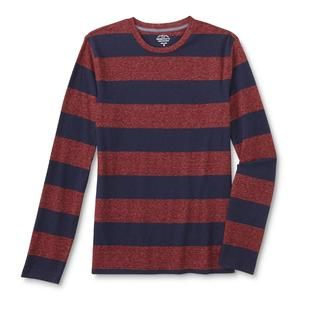 Roebuck & Co. Young Mens Long Sleeve T Shirt   Rugby Striped