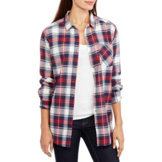 Brooke Leigh Women's Plaid Boyfriend Flannel Shirt
