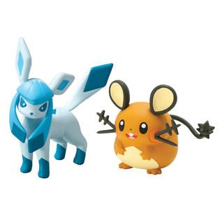 Tomy Pokémon 2 Pack Small Figures Dedenne vs Glaceon   Toys & Games