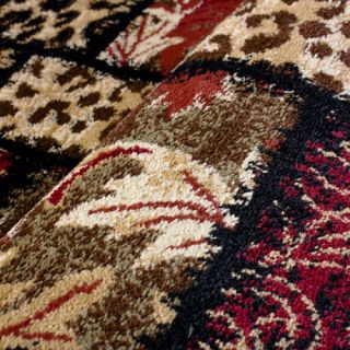 Barclay Sante Fe Leopard Animal Print Black Area Rug by Well Woven