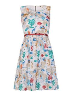 Yumi Flora and Fauna Postcard Dress Navy