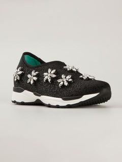 Philippe Model Gem Embellished Sneakers   Elite
