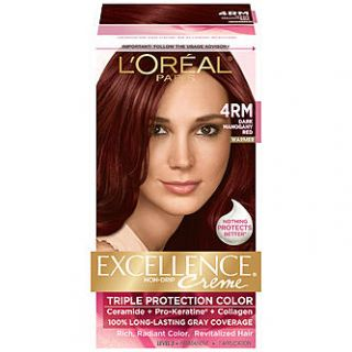 Oreal 4RM Red Richesse Warmer Dark Mahogany Red Hair Color 1 KT BOX