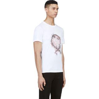 McQ Alexander Mcqueen White Thorn Monogram T Shirt